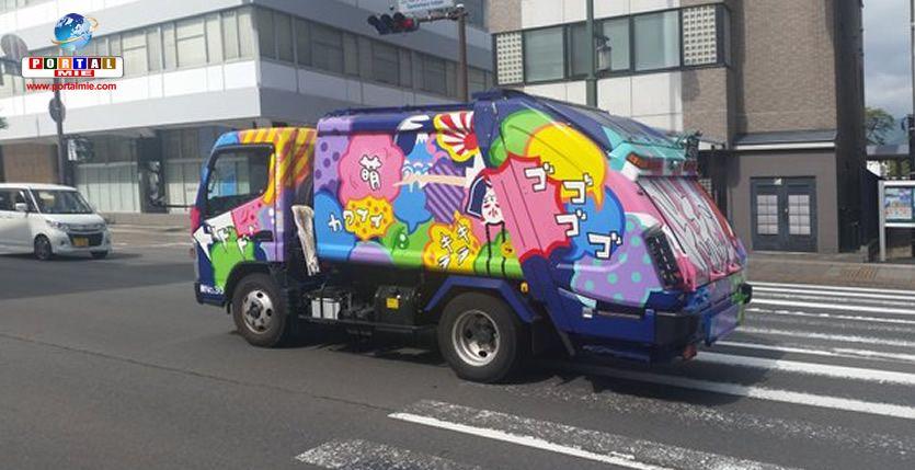 &nbspCaminhões de lixo com pinturas divertidas colorem as ruas no Japão