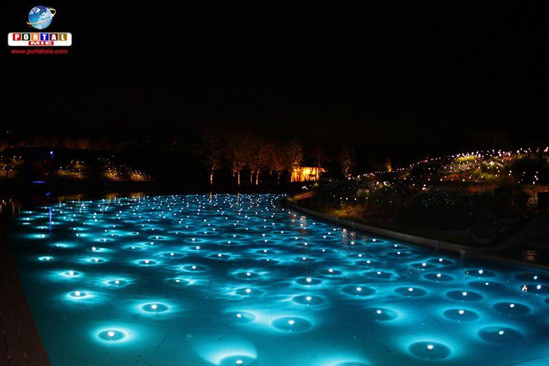 &nbspIluminação de inverno no Parque Lagunasia em Aichi