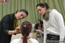Mariana detalhando a técnica