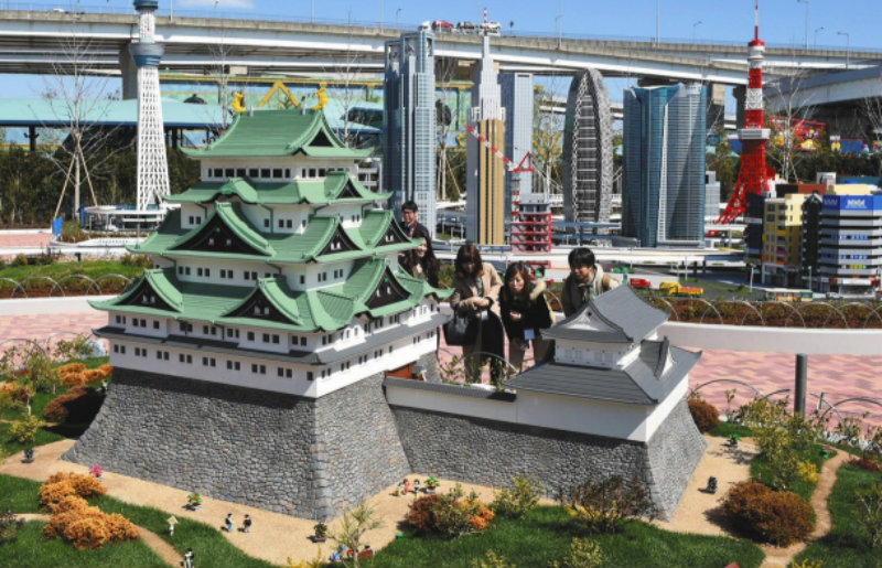 &nbspLegoland apresenta Miniland antes da inauguração em Nagoia