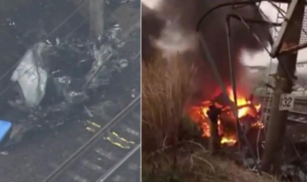 &nbspAichi: carro em chamas na colisão com um trem