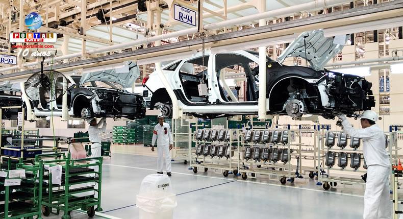&nbspProdução em fábricas de automóveis no Japão aumenta pelo 4º mês consecutivo