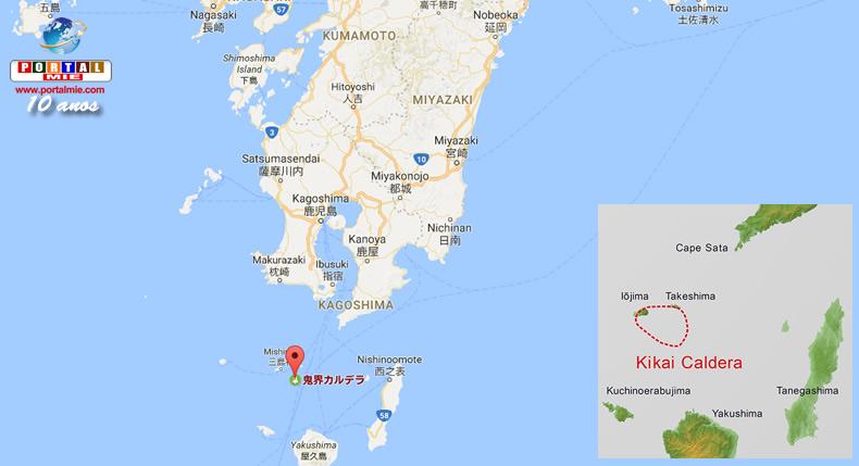 &nbspCientistas descobrem enorme quantidade de lava vulcânica ao sul do Japão