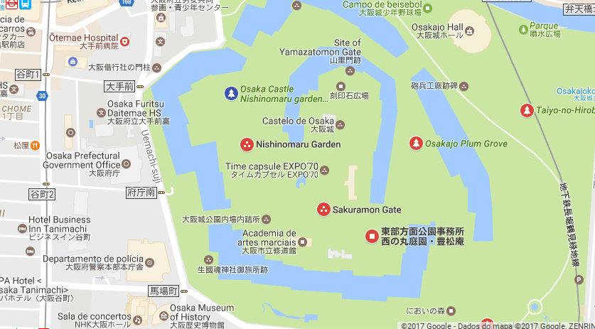 &nbspSakura contracena com Castelo de Osaka iluminado (vídeo)