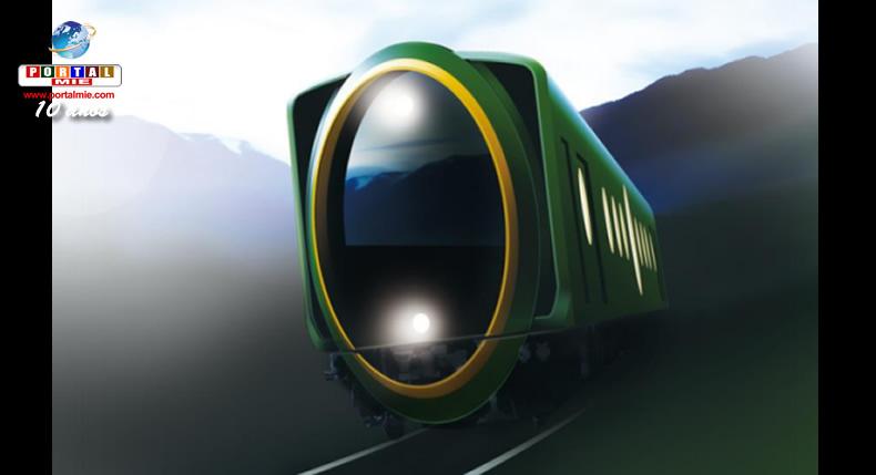 &nbspNovo trem terá design gigante de lente em sua parte frontal