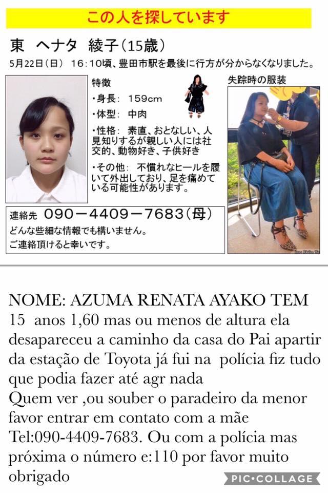 &nbspMais de 1 semana e a adolescente Renata continua desaparecida