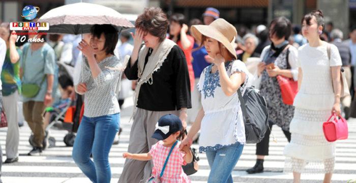 &nbspTemperaturas elevadas por todo o Japão