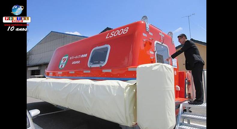 &nbspAichi: bote salva-vidas para casos de tsunami foi instalado em konbini