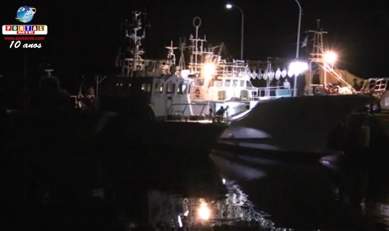&nbspDescoberta de 1 bilhão de ienes em ouro no navio: 8 japoneses e chineses presos