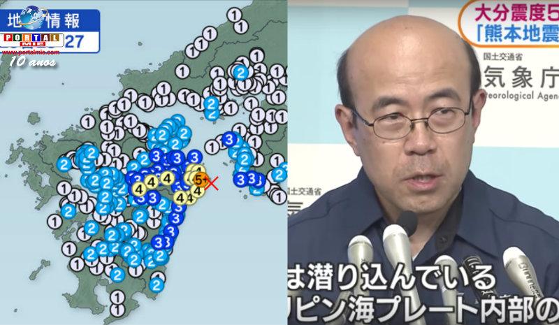 &nbspTerremoto de Oita: risco de mais tremores de intensidade 5