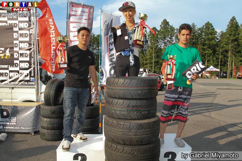 Campeões categoria Médio nanbei drift