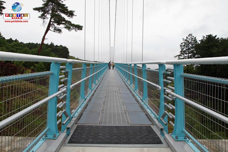 &nbspConheça a passarela suspensa mais longa do Japão