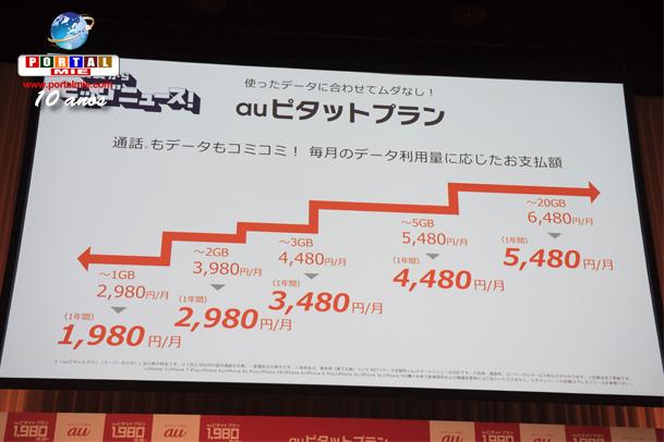 &nbspNovos planos para smartphones da au a partir de ¥1980/mês