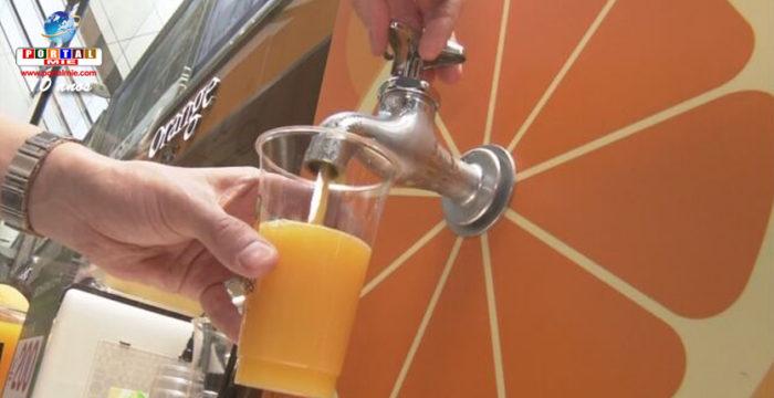 &nbspTorneira de suco de tangerina é instalada em aeroporto no Japão