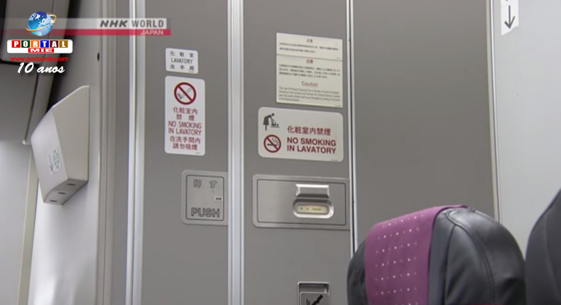 &nbspMesmo sendo proibido, passageiros continuam fumando em banheiros de aviões
