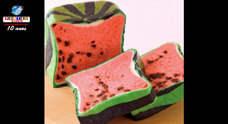 &nbspSuika Pan: o Japão também tem pão de melancia quadrada
