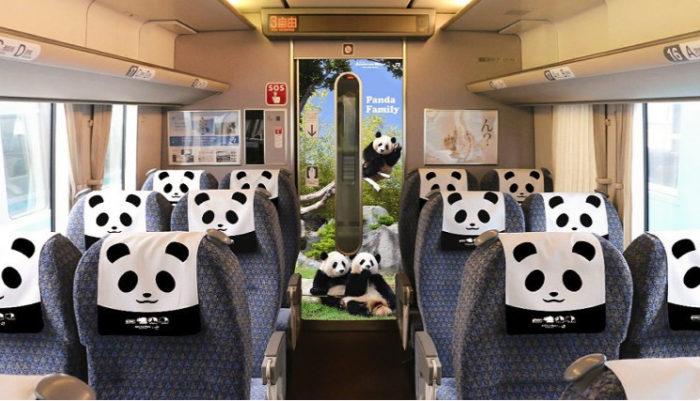 &nbspTrem temático do panda entrará em circulação no Japão