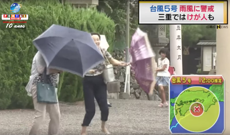 &nbspTufão n.º 5: aproximação na região Tokai às 19h e estragos em Mie
