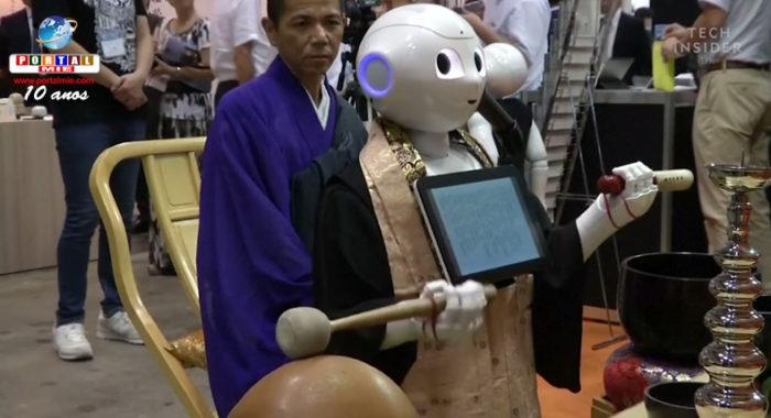 &nbspEmpresa apresenta 'robô sacerdote' em grande feira funerária do Japão