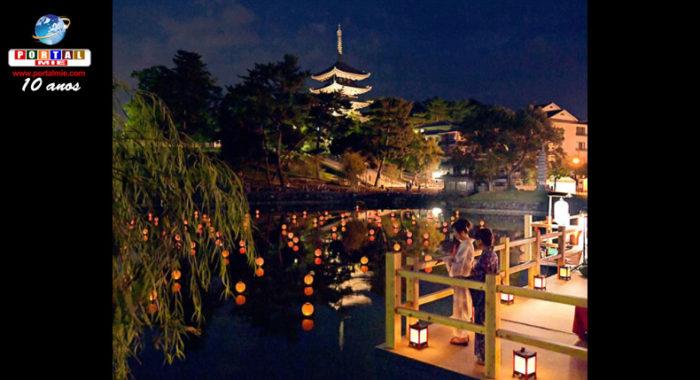 &nbspTerraço no lago oferece aos visitantes um momento refrescante no verão em Nara