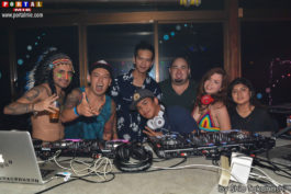 Asia DJs Poye, Okabe, Kevin, Zaki, Alessandro, Saritta e Angeles
