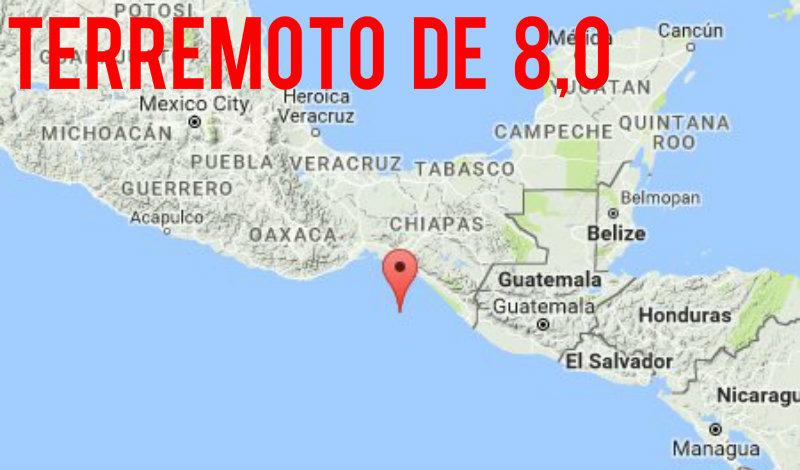 &nbspForte terremoto de magnitude 8,0 abala o sul do México
