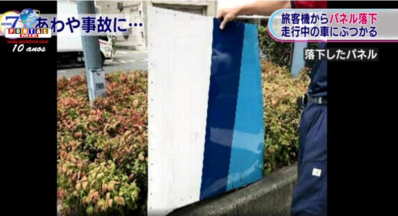 &nbspPeça de avião cai e atinge carro em Osaka