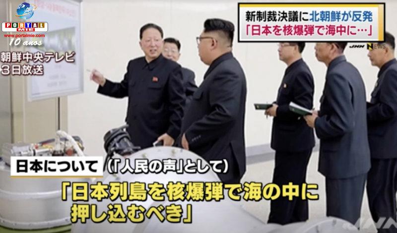 &nbspCoreia do Norte: 'deveria afundar o arquipélago japonês com bomba nuclear'