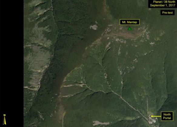 &nbspTeste nuclear da Coreia do Norte provocou deslizamentos de terra