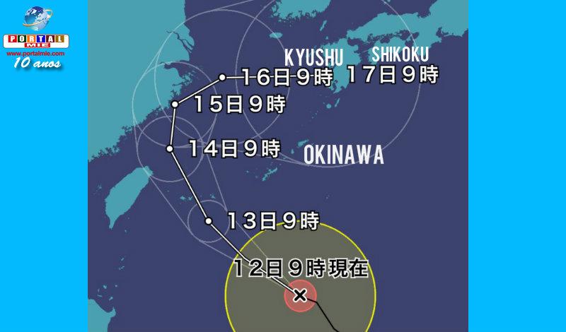 &nbspTufão 18 poderá fazer curva e cobrir Kyushu no feriado