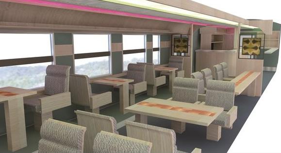 &nbspNovo trem turístico oferecerá viagens mais baratas porém luxuosas entre Tottori e Shimane