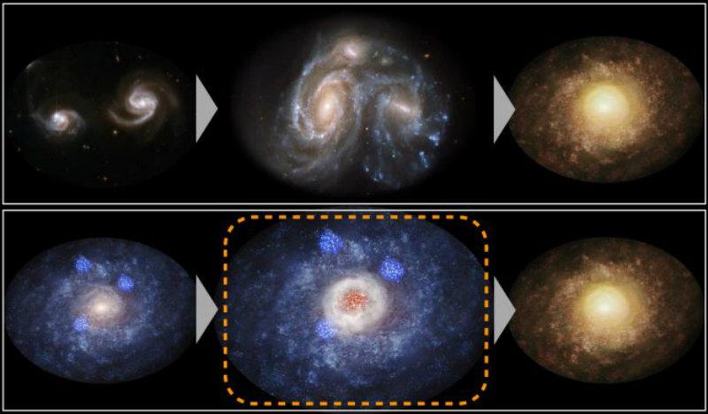 &nbspNovas estrelas na galáxia de 11 bilhões de anos