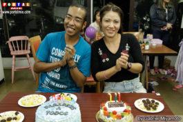 Aniversariantes Pedro Awano e Kelly Kin lanchonete do villa