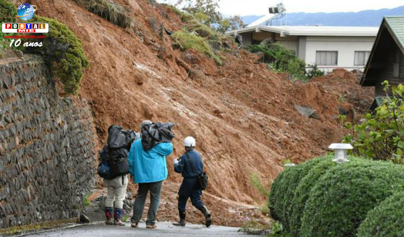 &nbspTufão gigante provoca desastres e previsão de nevasca em Hokkaido
