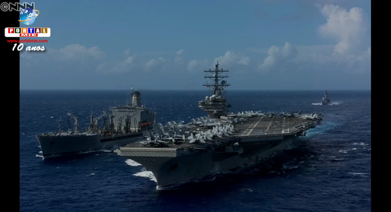 &nbspPorta-aviões americano conduz exercícios militares com navio japonês perto de Okinawa