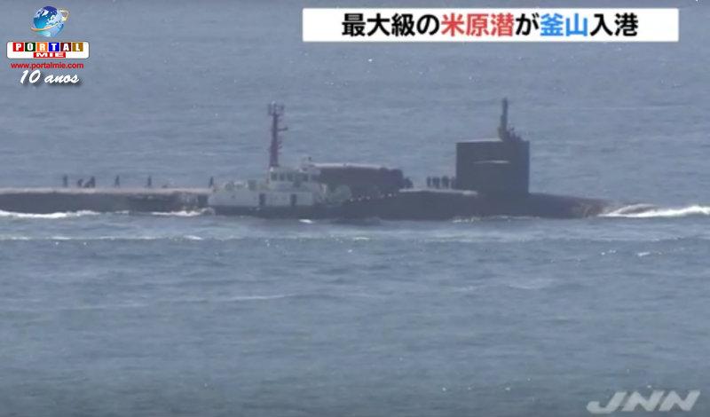 &nbspPotente submarino nuclear chega na Coreia do Sul para intimidar o vizinho