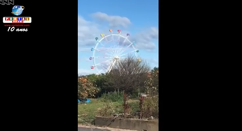 &nbspVídeo mostra o efeito dos ventos de um tufão em uma roda-gigante no Japão