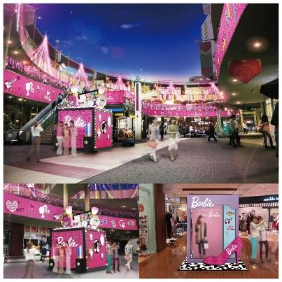 &nbspIluminação natalina e noite da Barbie em Nagoia