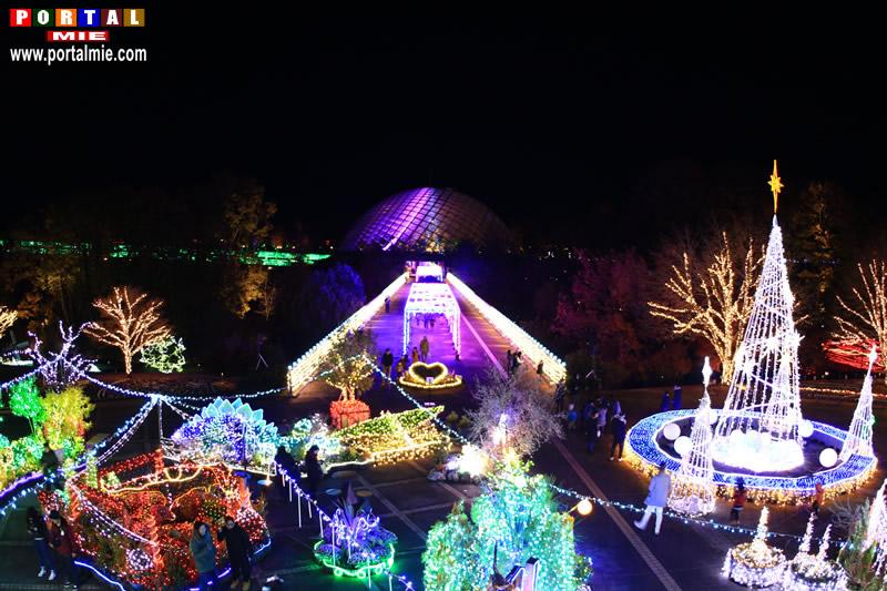 &nbspIluminação especial no Hanakairo Flower Park