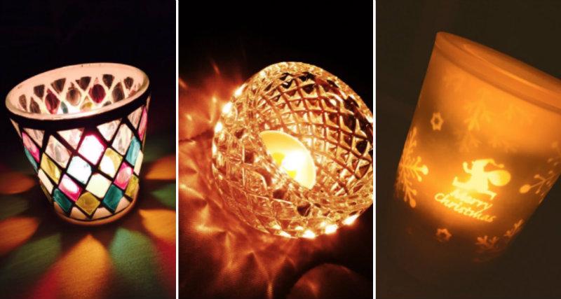 &nbspArranjos com velas LED do ¥100 shop