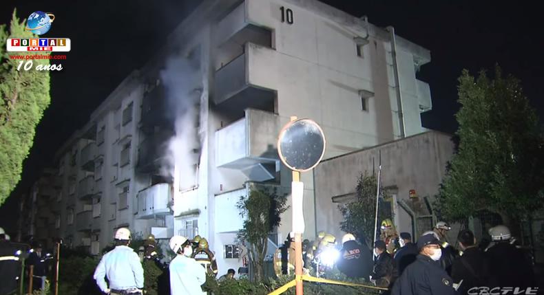 &nbspAichi: incêndio em apartamento deixou feridos