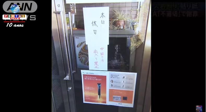 &nbspEmpresa japonesa de cosméticos pede desculpas por cartaz proibindo a entrada de chineses