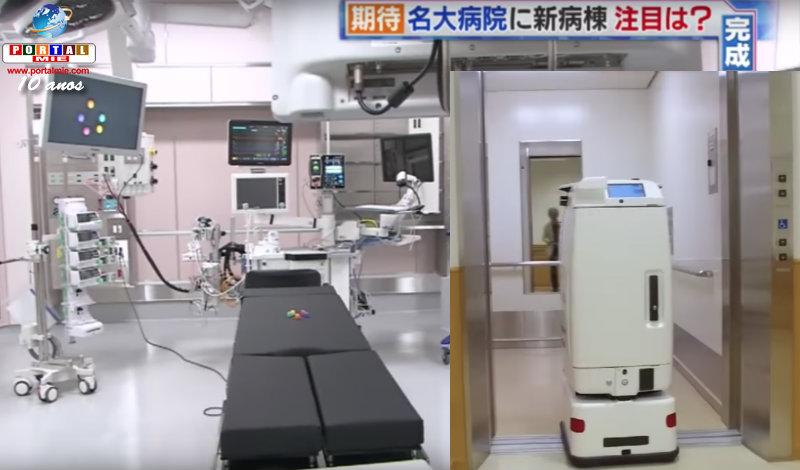 &nbspRobô enfermeiro e tecnologia de ponta na nova ala do HU de Nagoia
