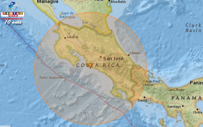 &nbspTerremoto de magnitude 6,8 na Costa Rica