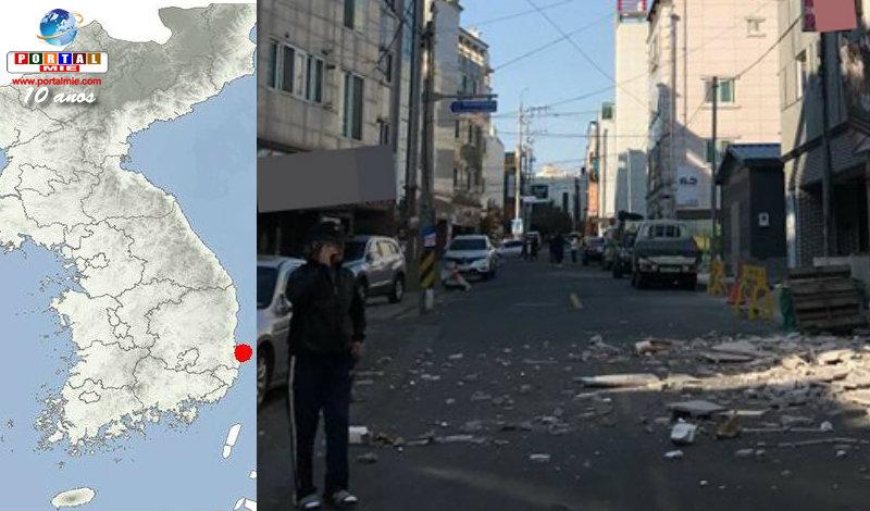 &nbspTerremoto de magnitude 5,5 na Coreia do Sul