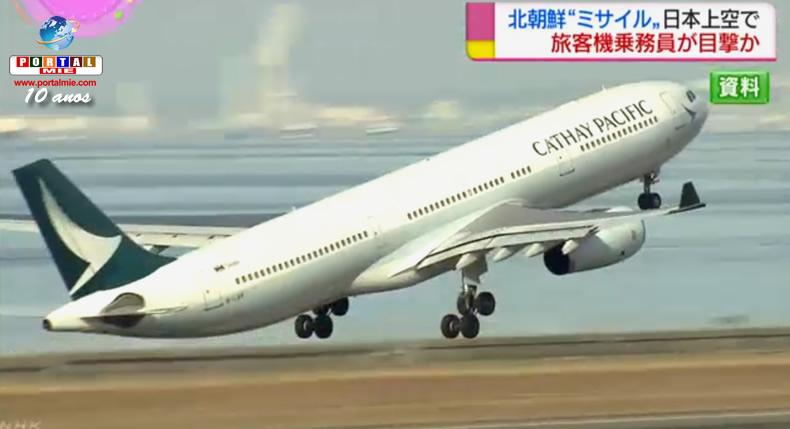 Míssil de Pyongyang visto por tripulação de avião que sobrevoava Japão