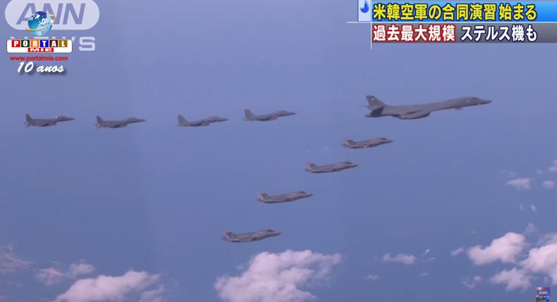 &nbspForças aéreas dos EUA e Coreia do Sul iniciam exercício conjunto