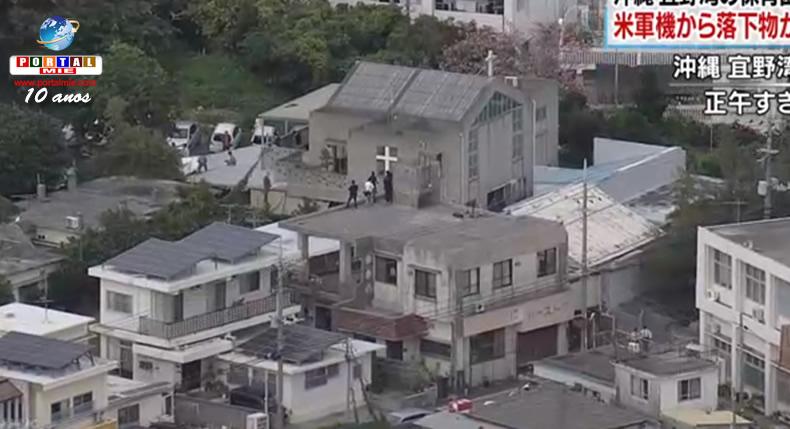 &nbspObjeto cai de avião militar americano e atinge creche em Okinawa