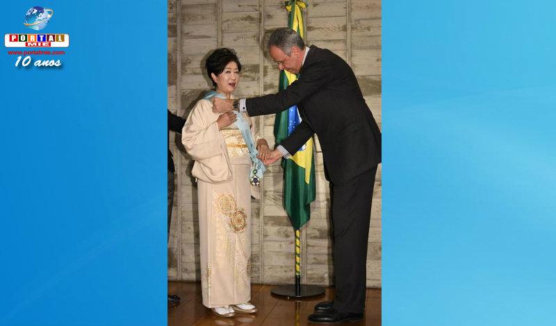 &nbspGovernadora de Tóquio é condecorada pelo governo brasileiro