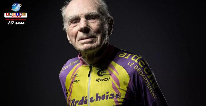 &nbspCiclista mais velho do mundo se aposenta aos 106 anos